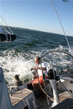 Paul Kettle at the helm